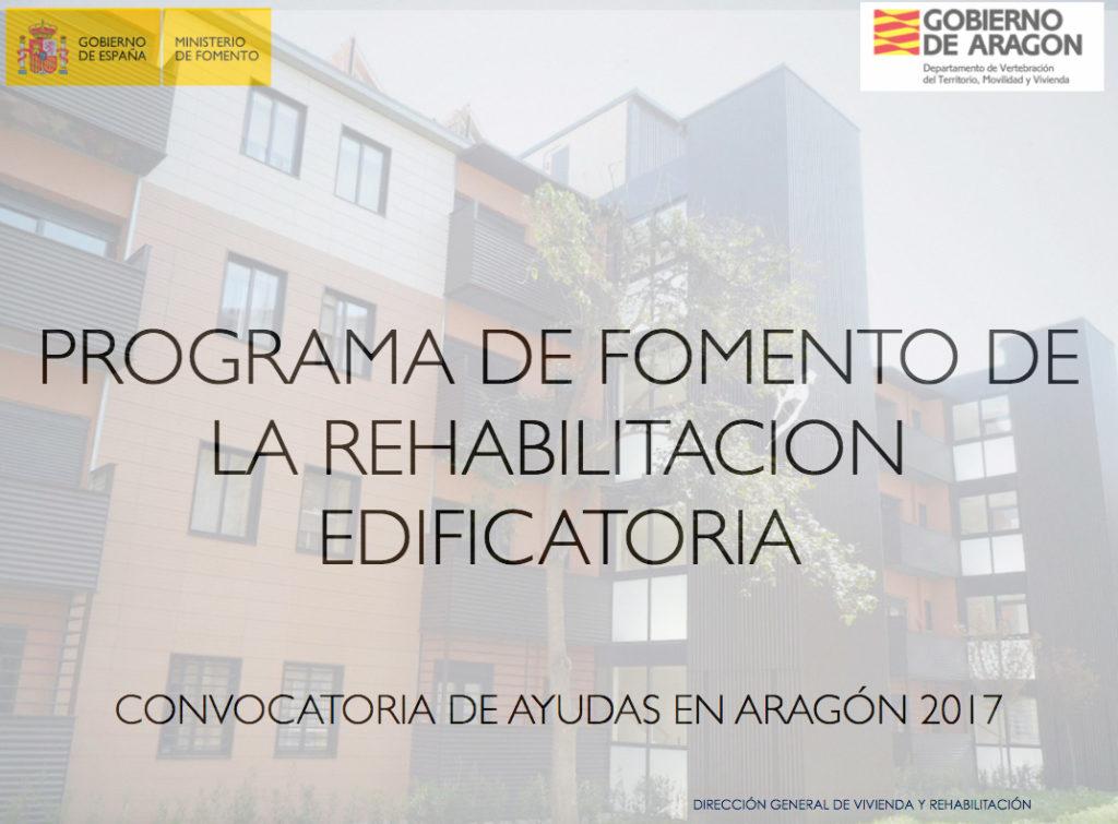 ayudas aragón para la rehabiliatción de las viviendas